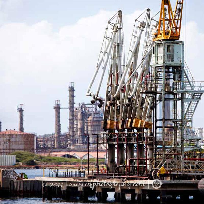 ansichtkaart Curacao industrie
