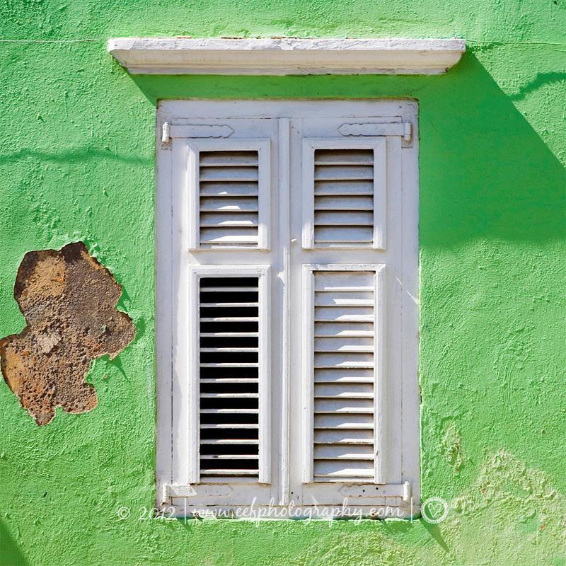ansichtkaart Curacao strand natuur huizen
