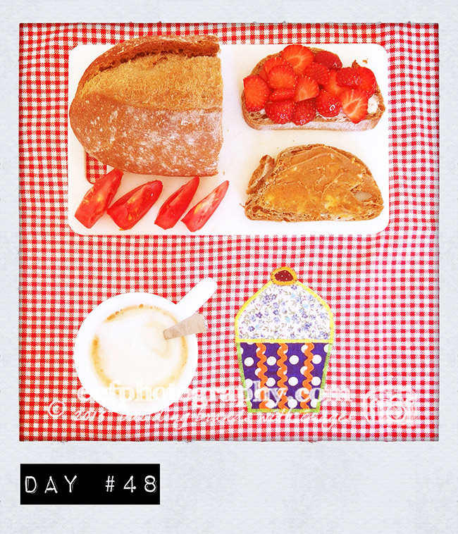 100 days of breakfast, personal project iphone photography