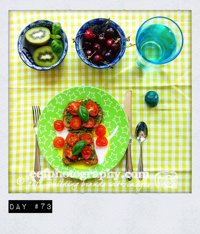 100 days of breakfast, personal project iphone photography istagram