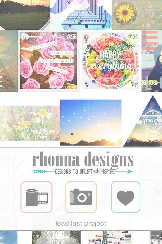 Rhonna desings app | eefphotography | Blog #iPhonefotografie #rhonnadesigns