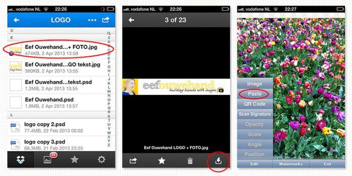Hoe kan je een watermerk toevoegen aan je iPhone foto's met de Iwatermark app?
