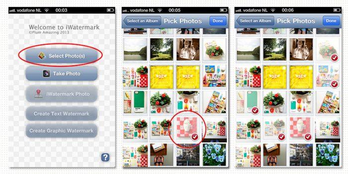 Watermerk je iPhone foto's met Iwatermark app