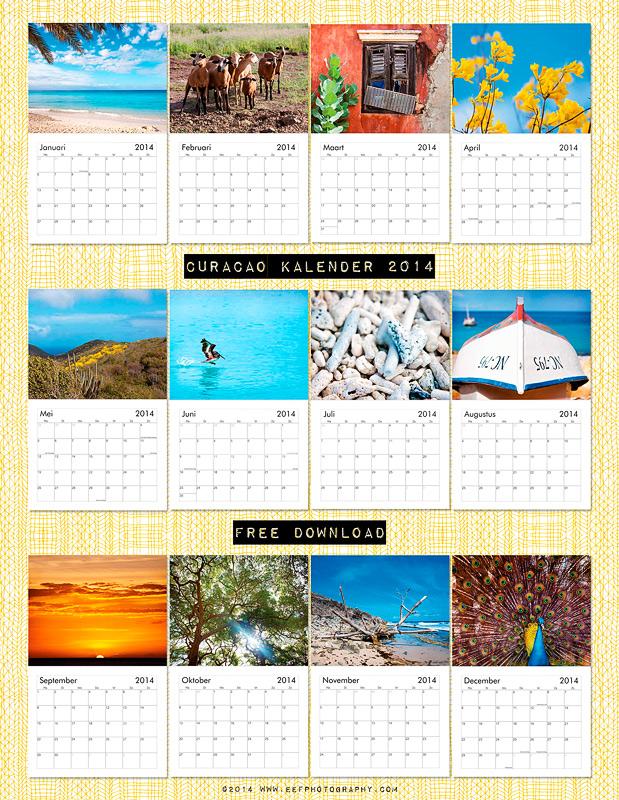 eefphotography | free download calendar Curacao 2014