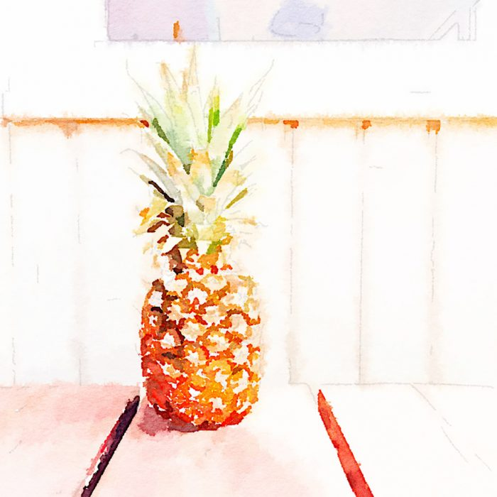 #Waterlogue app, #aquarel #pineapple