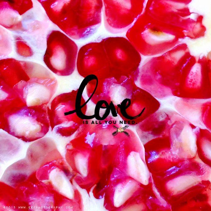iPhone fotografie, camera+ tutorial, #granaatappel, #macrofotografie, #quote #valentine #valentijndsquote