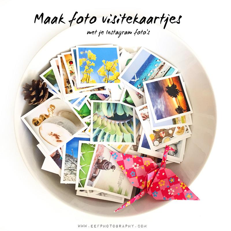 Foto visitekaartjes met je instagram foto's
