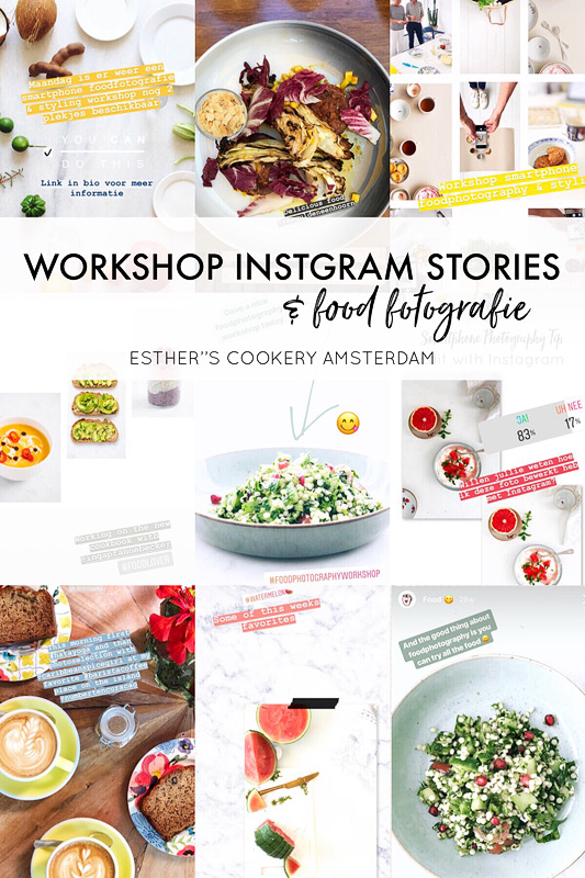 workshop instagram stories en foodfotografie